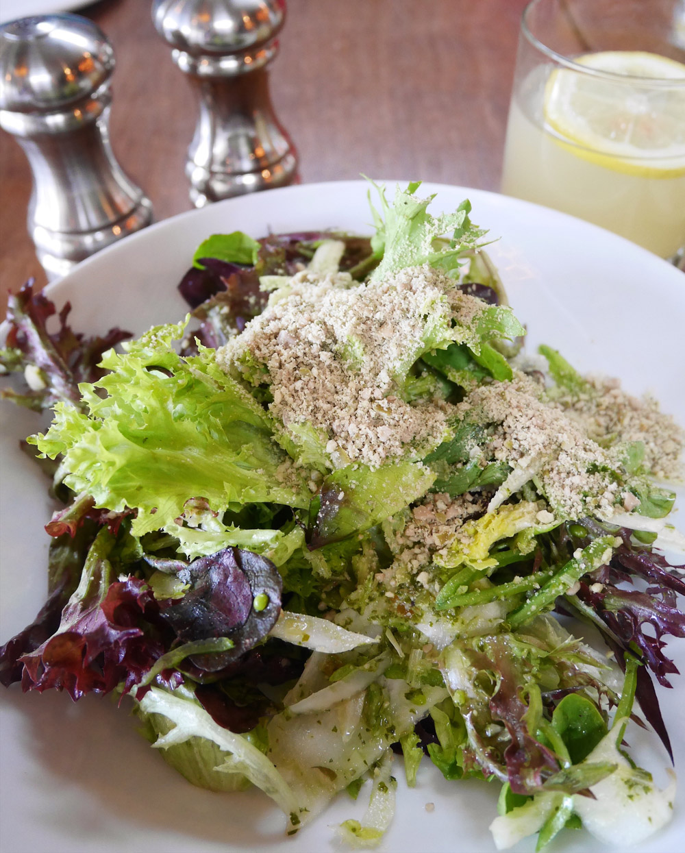 Spring Farm Greens & Fennel Salad, Irving Street Kitchen