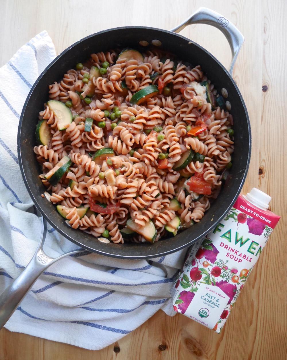 Fawen Organic Vegan Soup, Summer Veggie Pasta