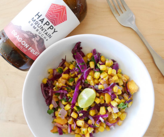 Cabbage Corn Salad, Summer Flavor Popup with Veganizer Portland
