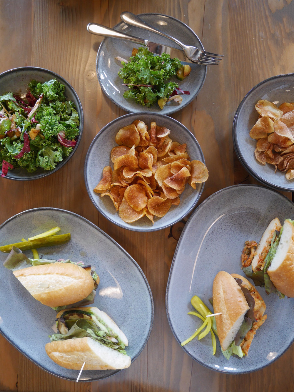 Vegan Dishes at Stacked Sandwich Shop, SE Portland