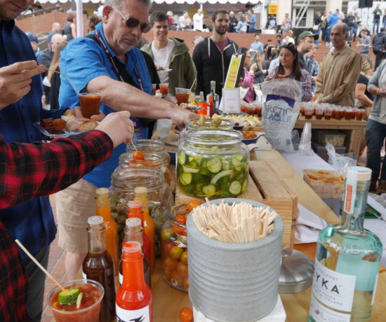 Feast Portland, Brunch Village, Bloody Mary Bar with Reyka Vodka and The Waiting Room