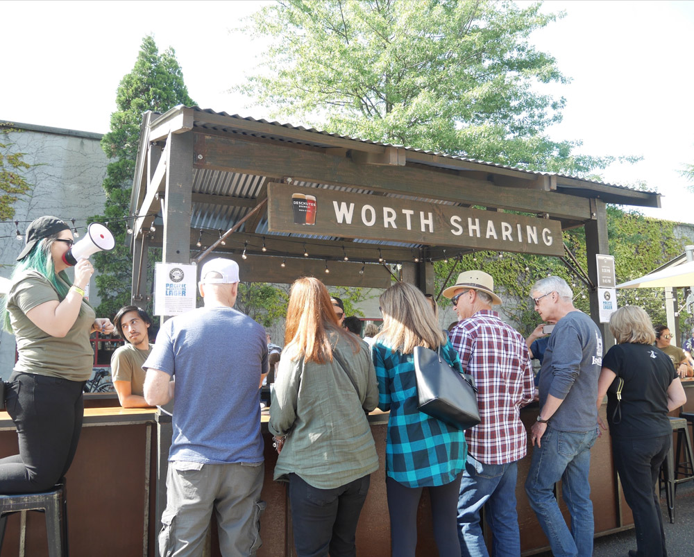 Deschutes Brewery Traveling Popup Street Pub, Portland, Oregon