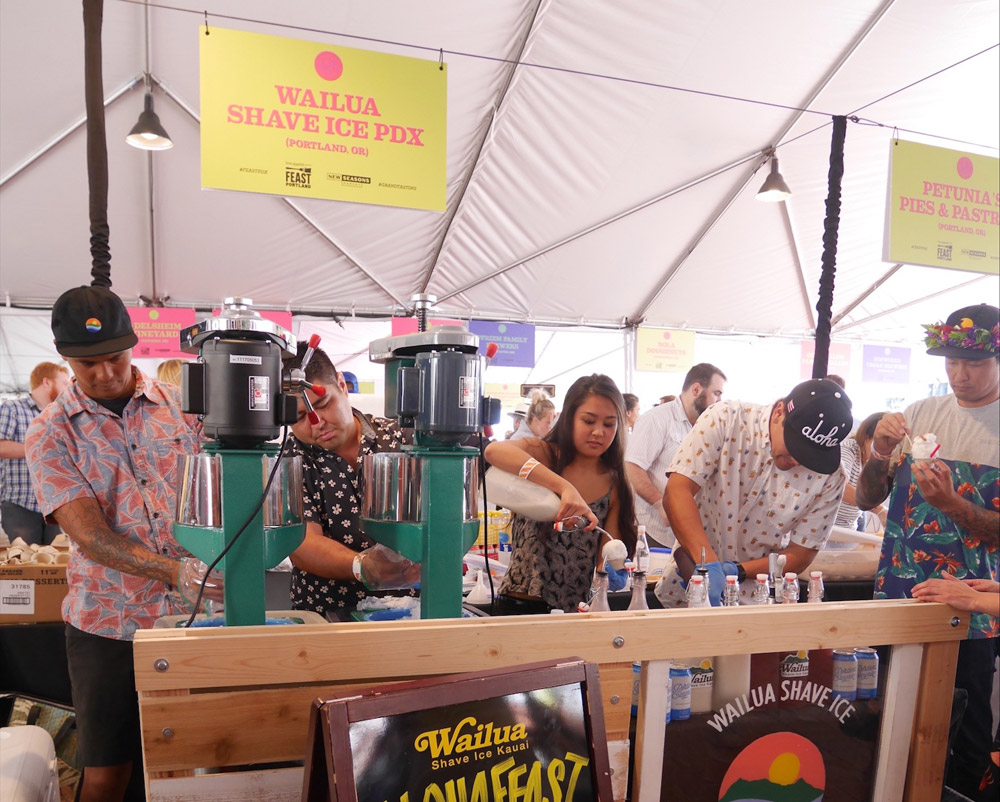 Feast Portland 2017: Friday & Saturday Grand Tasting, Wailua Shaved Ice