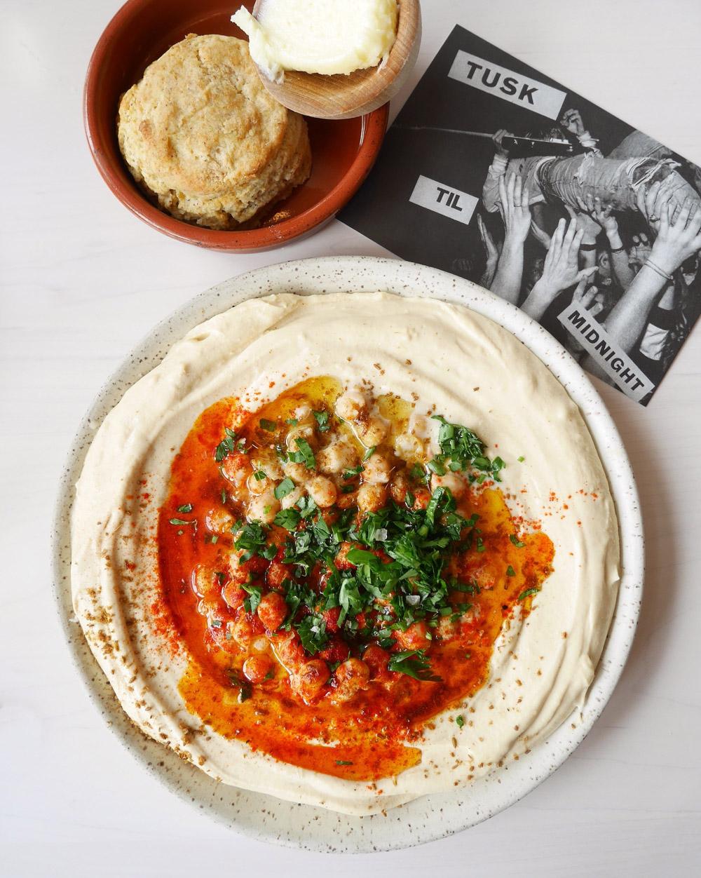 Hummus, Zaatar Biscuits, Tusk, SE Portland