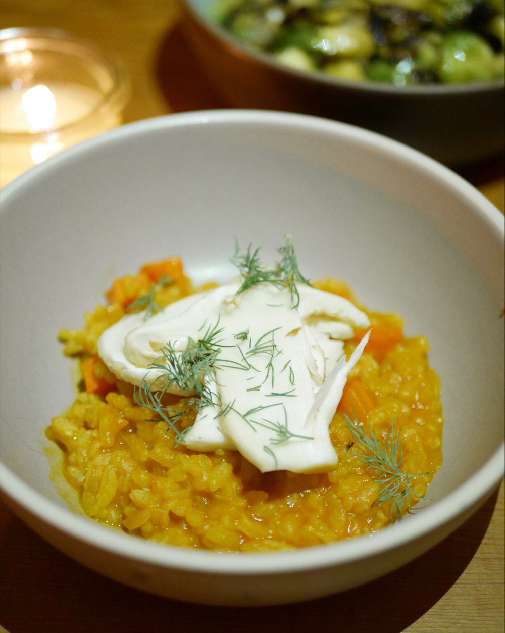 Carrot Risotto with Maiitake, Urban Farmer, Downtown Portland