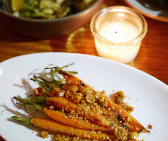 Carrots with Crunchy Quinoa, Urban Farmer, Downtown Portland