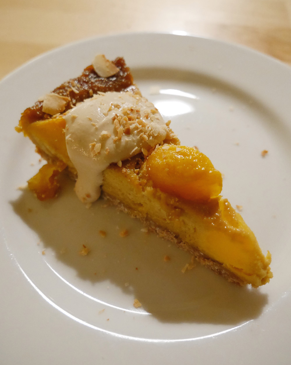 Portland Dining Month - Feastly Vegan Nigerian, Mango Cake with Cashew Lime Cream