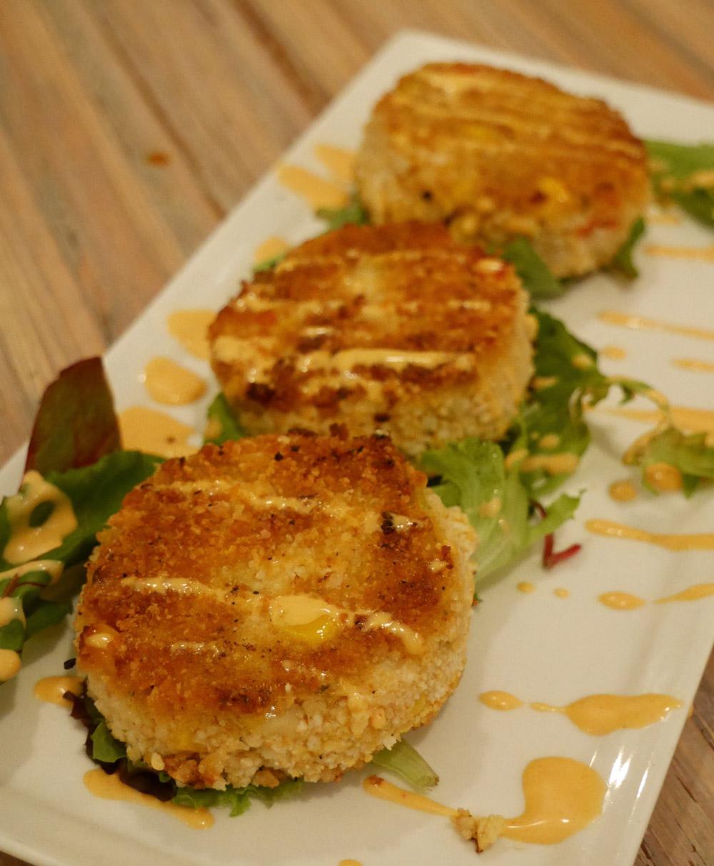 Vegan Artichoke Crab Cakes, Seed, New Orleans