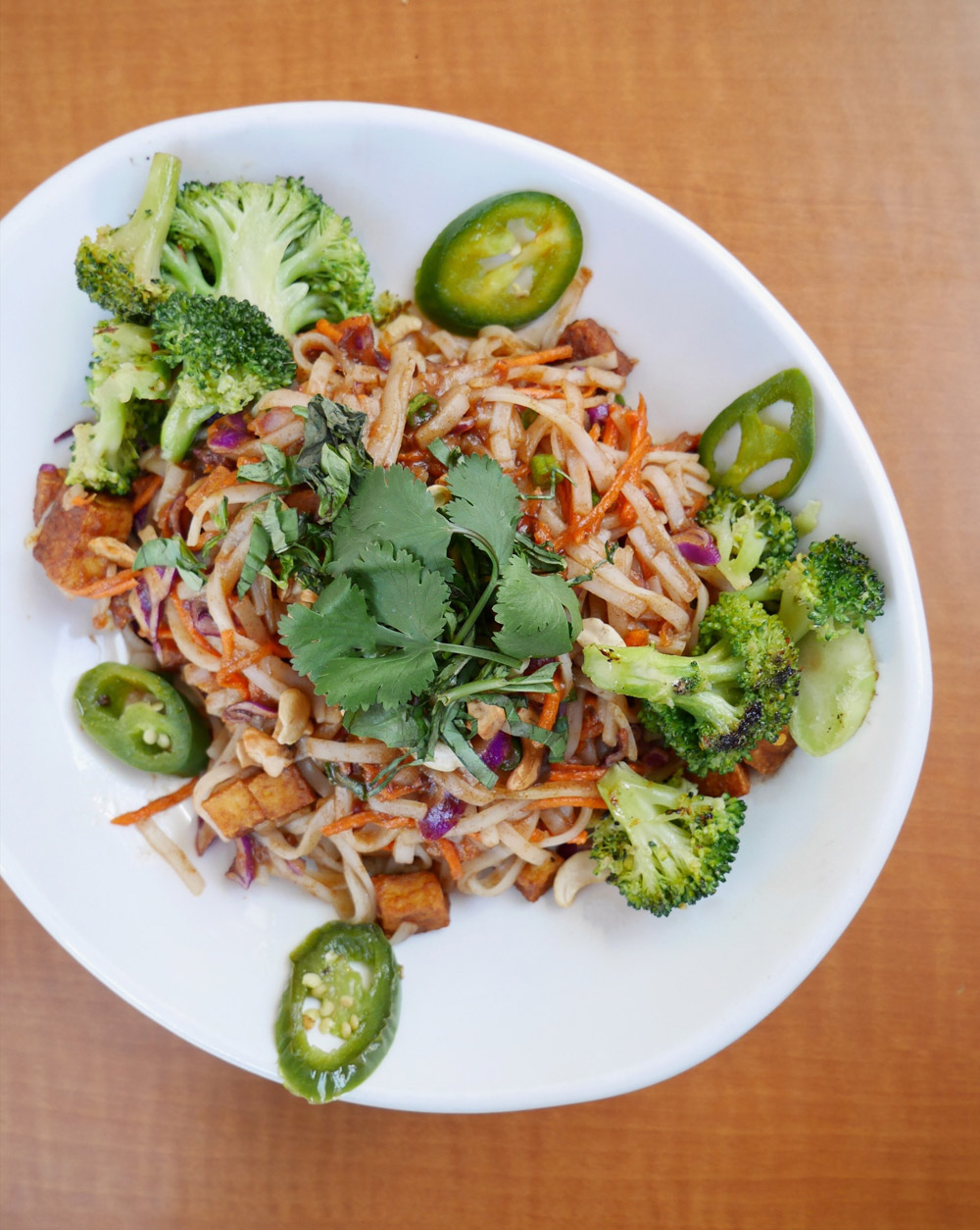 Vegan Pad Thai, Native Foods Cafe, Bridgeport Village
