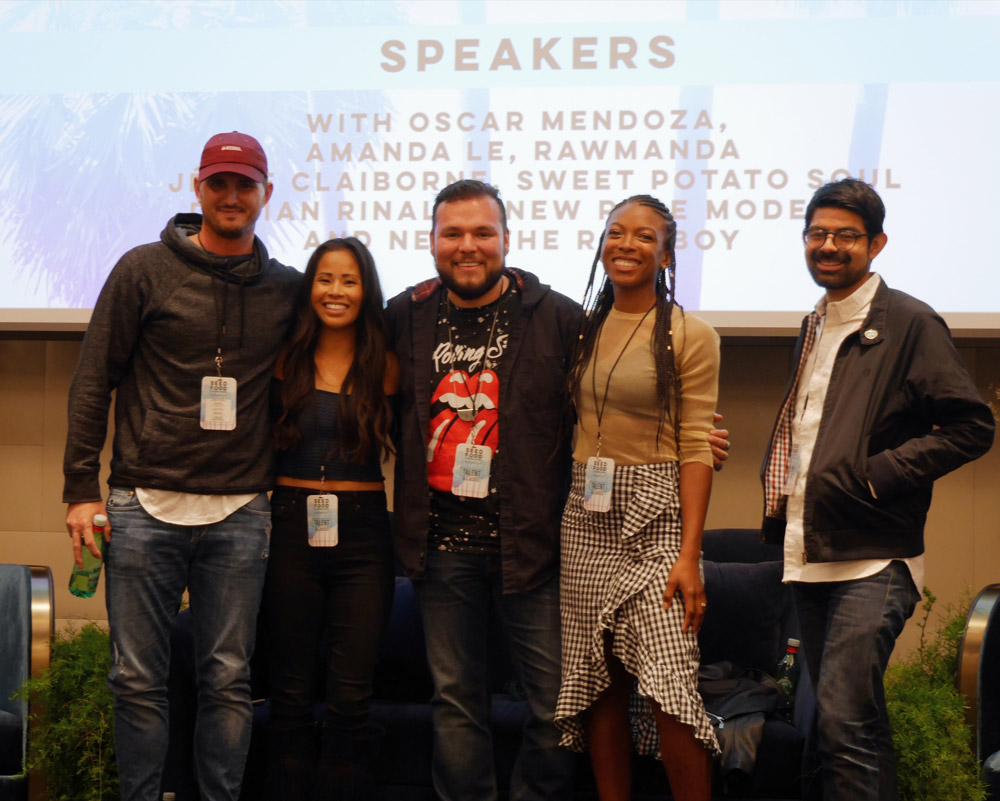 Damien Rinaldi, Amanda Le, Neto, Jenne Clairborne, Oscar Mendoza, Seed Summit, Seed Food & Wine Week 2018