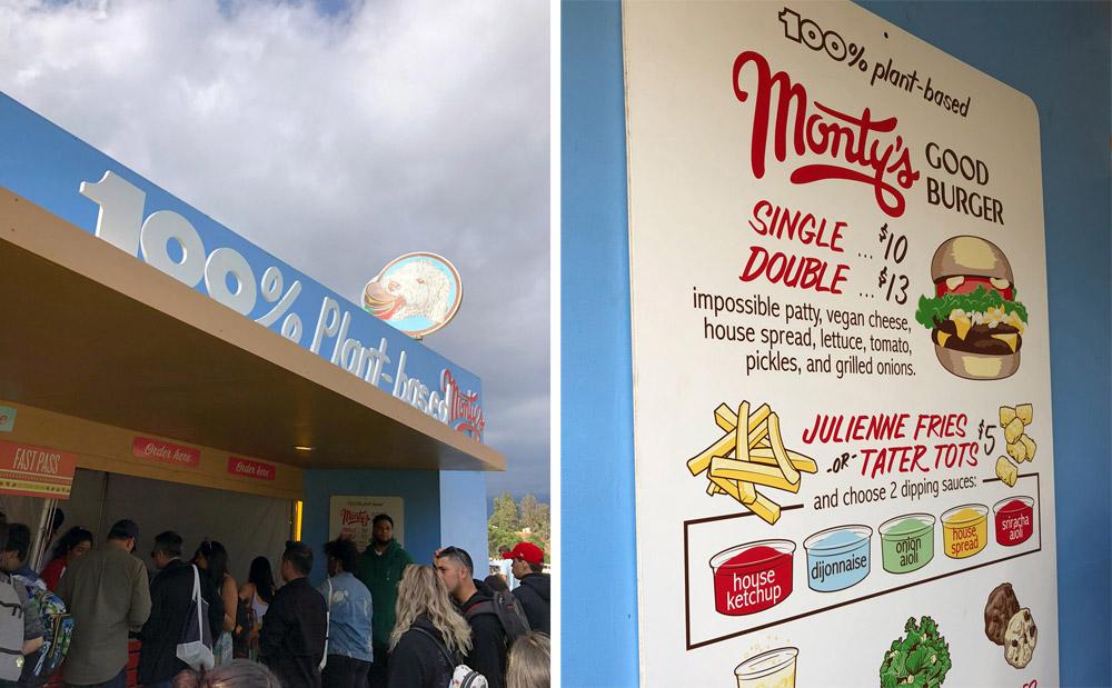 Monty's Good Burger, Eat Drink Vegan Festival, Los Angeles