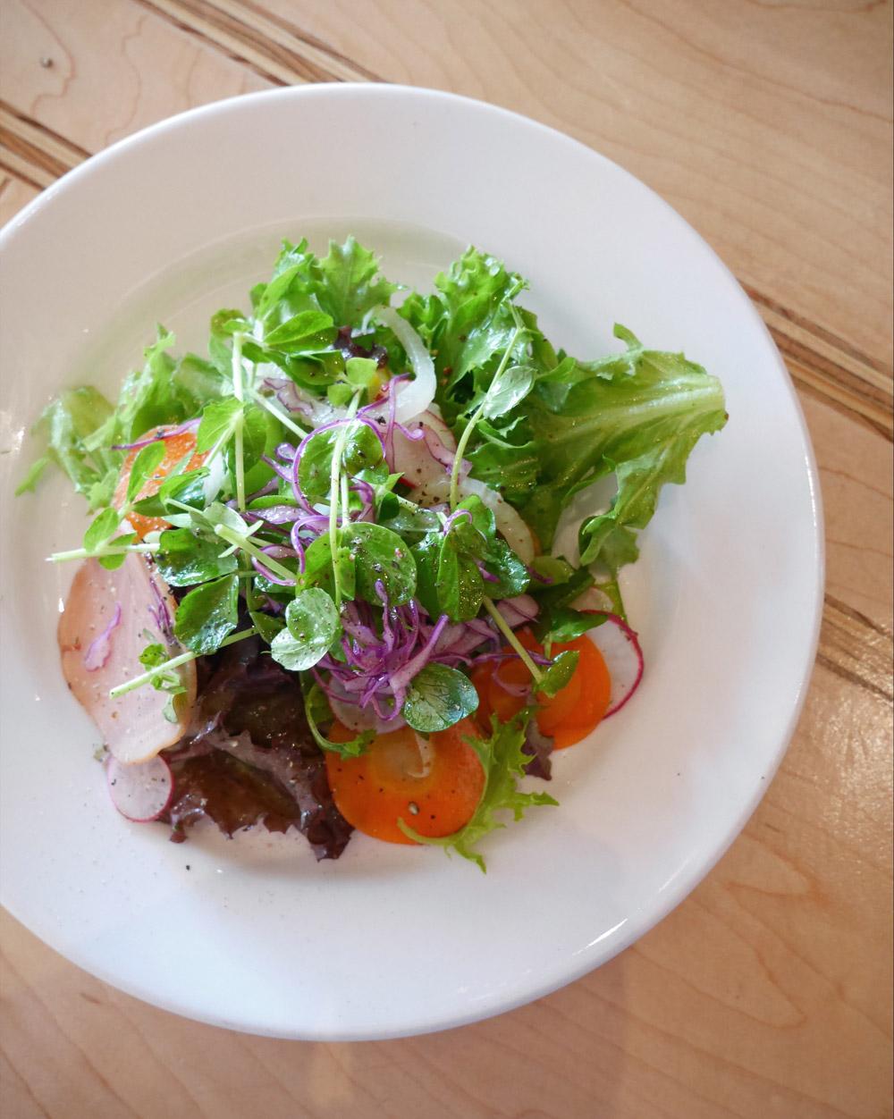 Summer Salad, Rally Pizza, Midsummer Harvest Quarterly Dinner Series