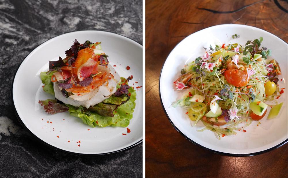 Kimchi Crepe, Kelp Noodles, Holiday Plant-Based Gluten-Free Cafe