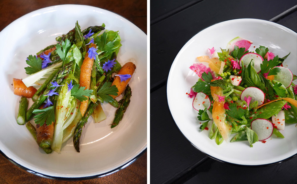 Asparagus Salad, Snap Pea Salad, Holiday Plant-Based Gluten-Free Cafe