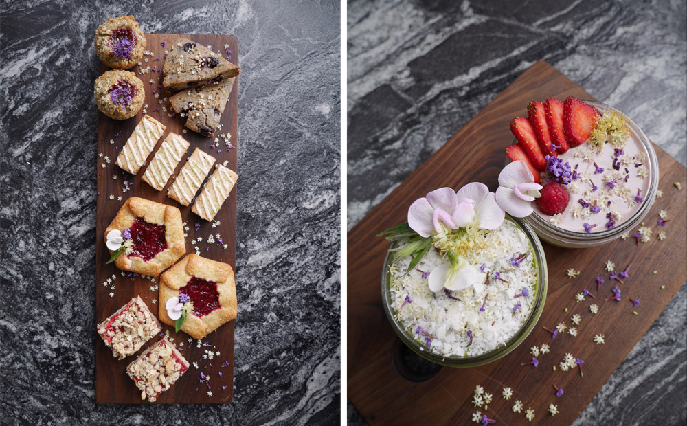 Pastry Menu, Raw Vegan Cheesecakes, Holiday Plant-Based Gluten-Free Cafe