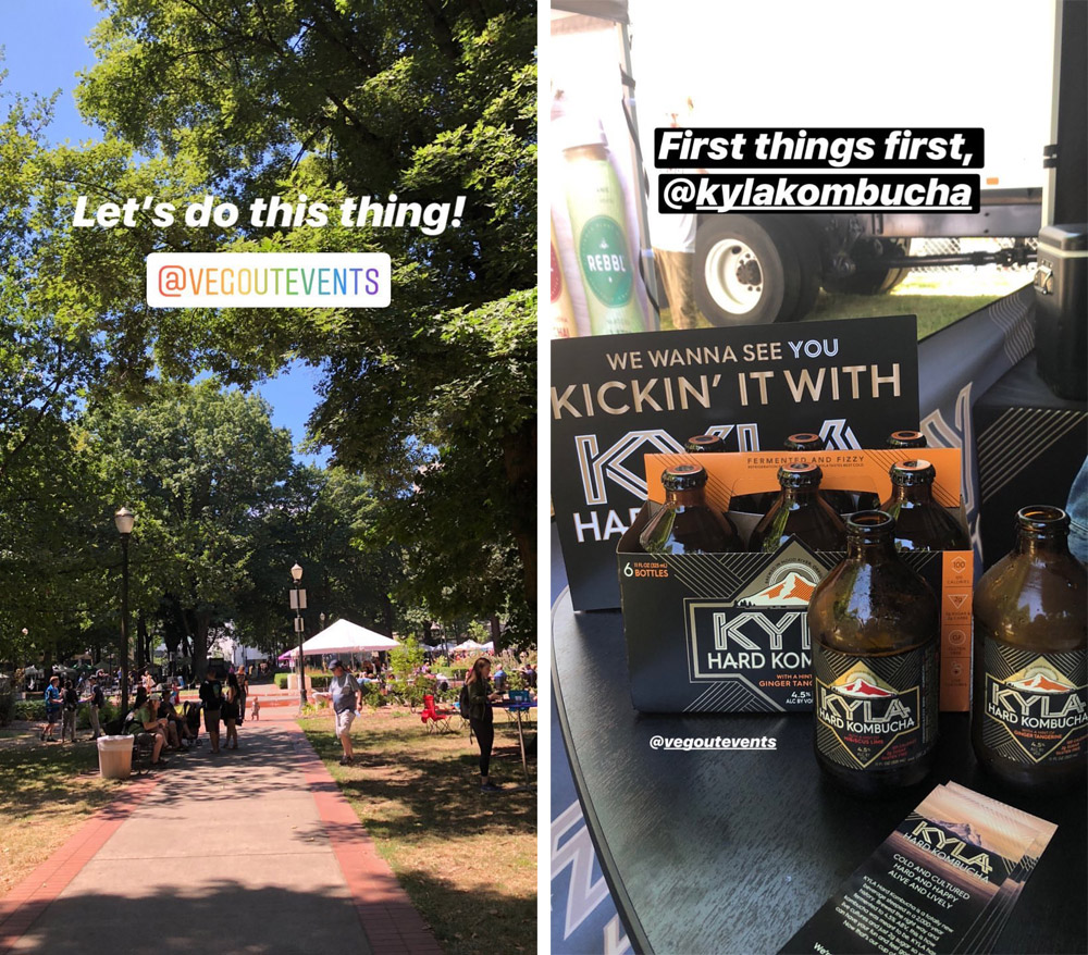 VegOut Portland at Holladay Park, Kyla Hard Kombucha