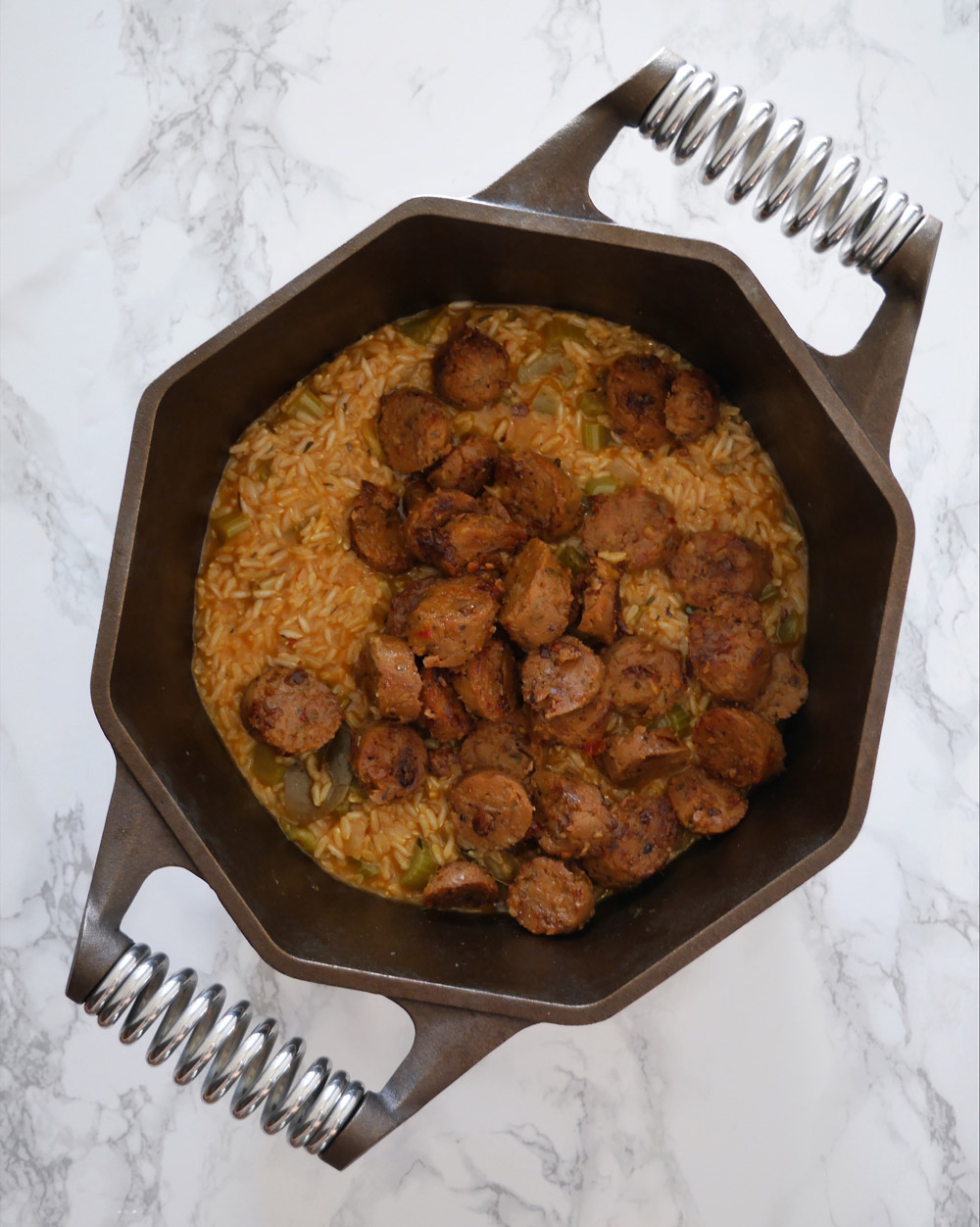 Finex Dutch Oven Vegan Cajun Jambalaya