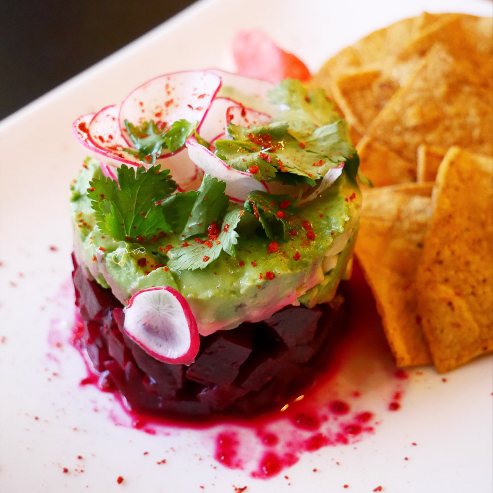 Blossoming Lotus, Portland Dining Month, Beet Avocado Ceviche
