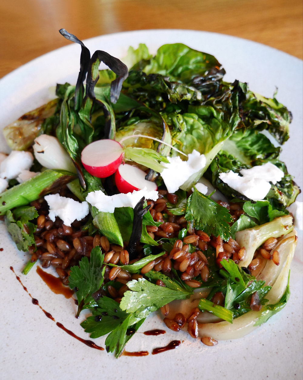 Estes, Dame Collective, Romaine and Farro Salad