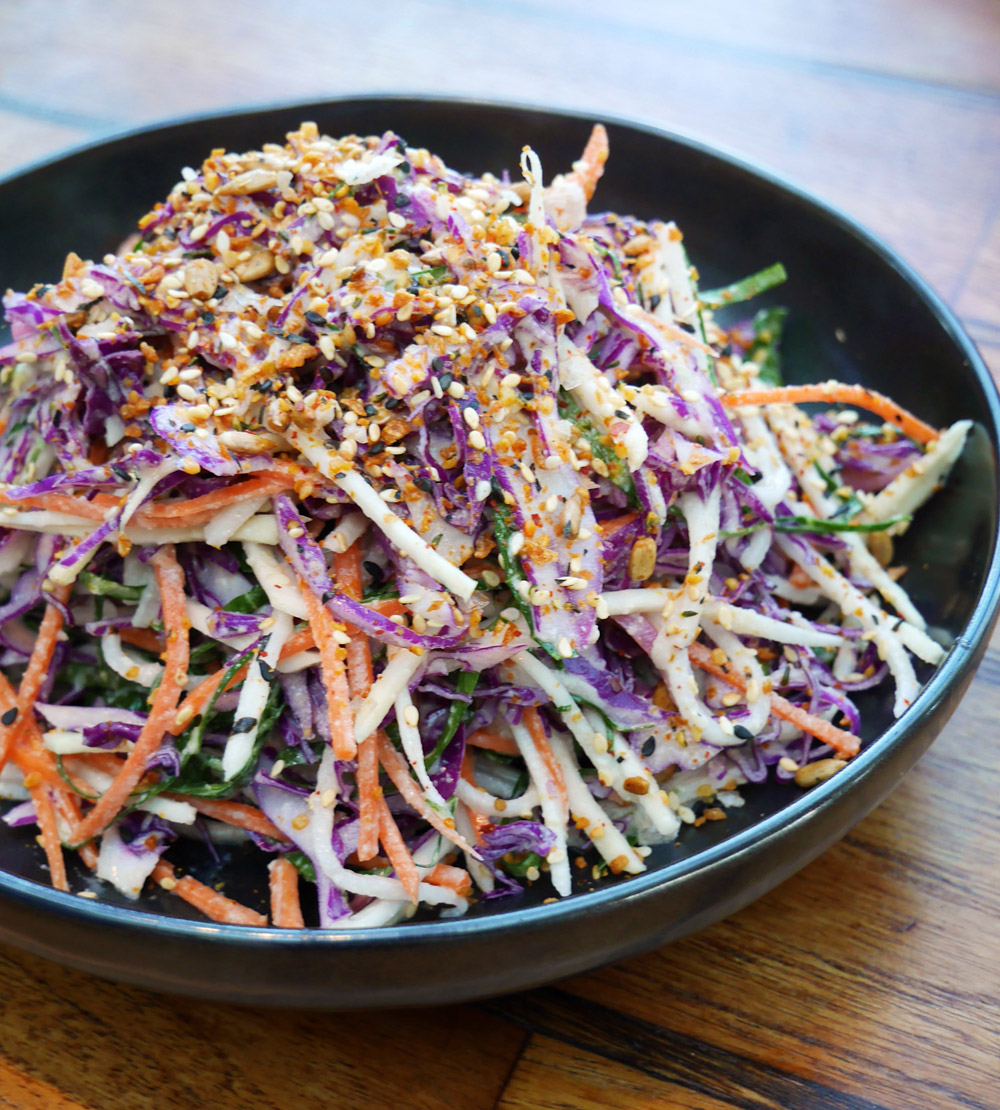 Departure, Portland Dining Month, Collards and Roots Slaw