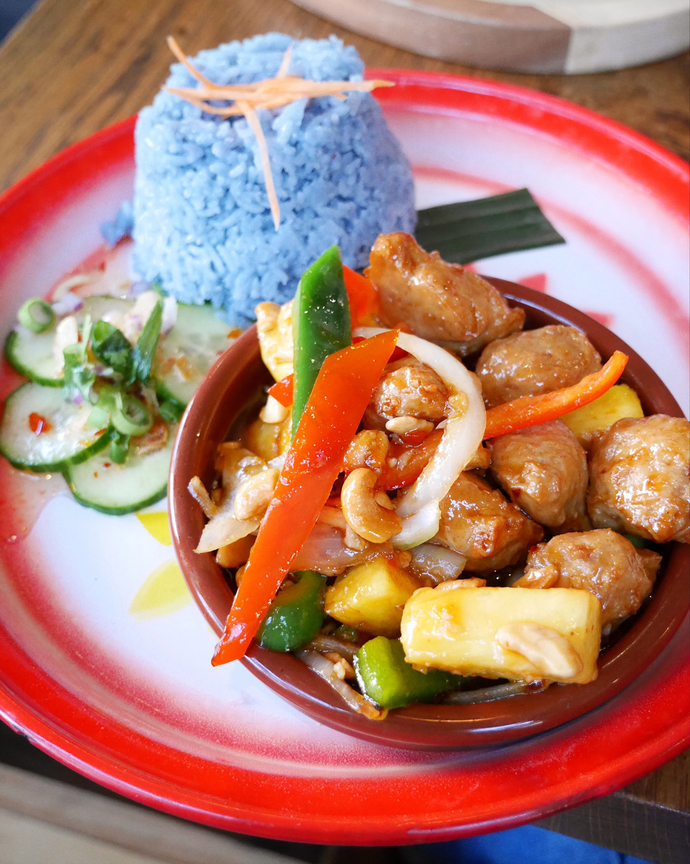 Farmhouse Thai, Portland Dining Month, Crunchy Vegan Chicken