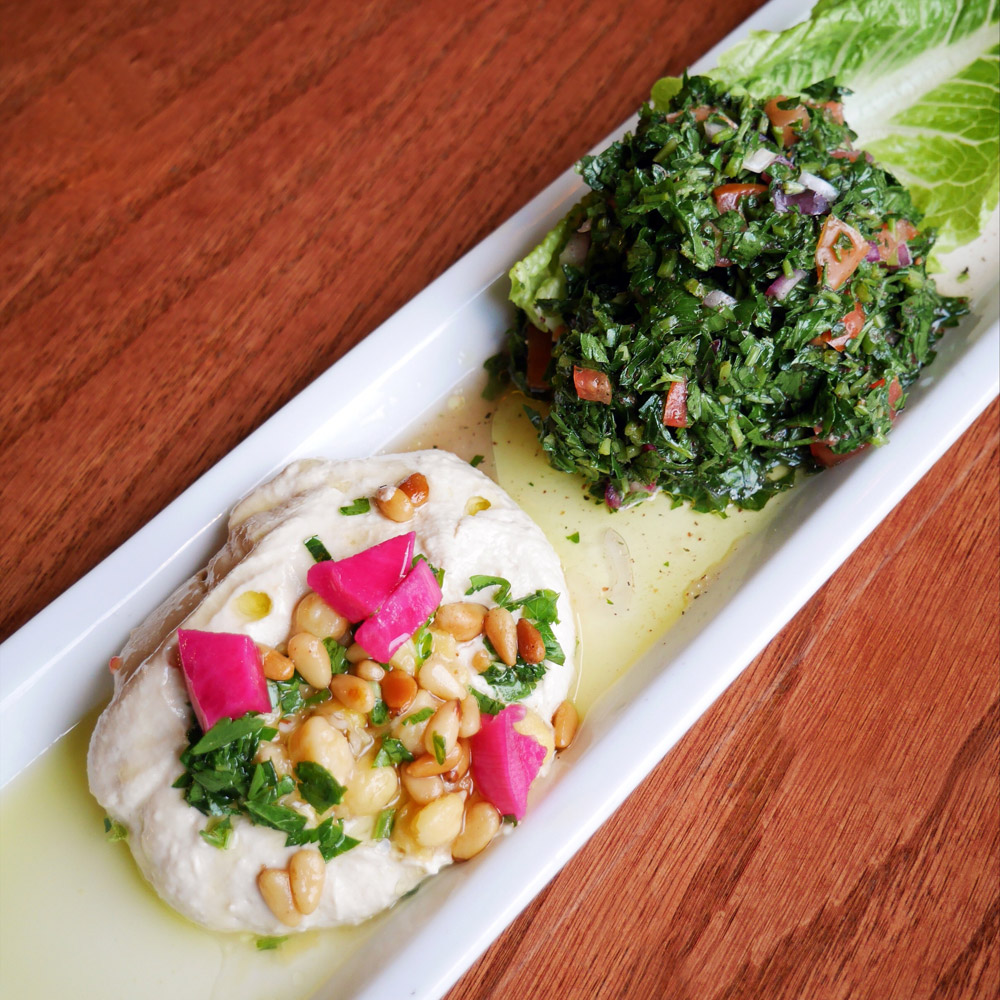Hoda's, Portland Dining Month, Hummus with Tabouleh Salad