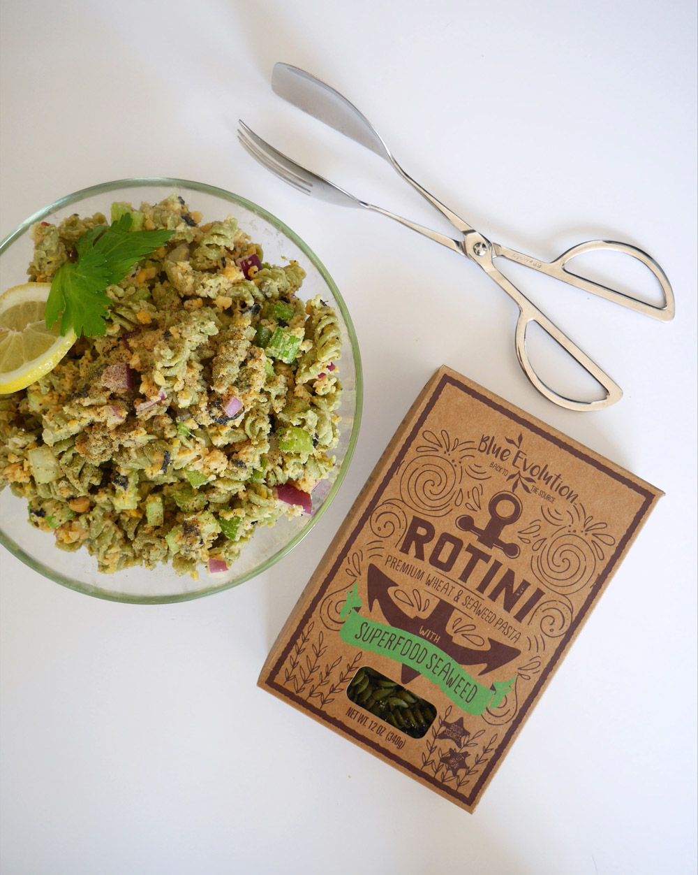 Blue Evolution Chickpea Tuna Pasta Salad with Rotini Seaweed Pasta