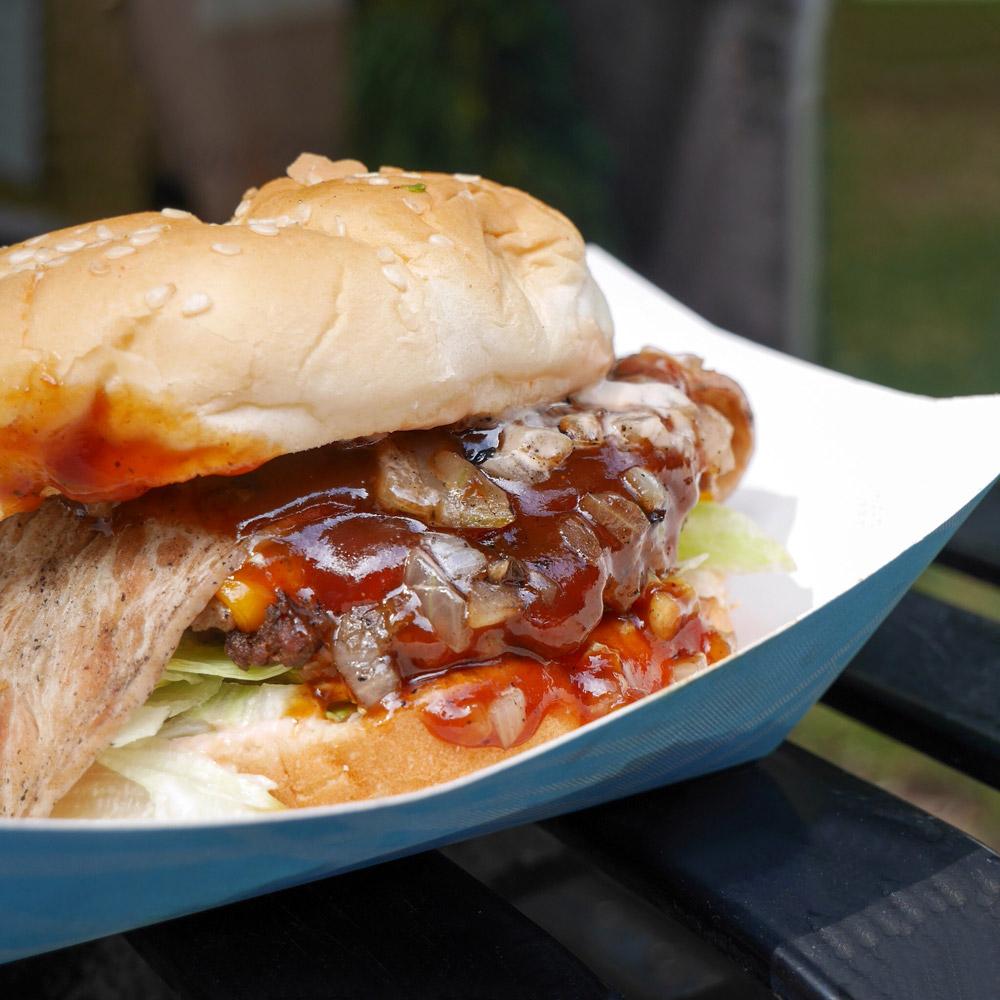 Evolution Burger BBQ Bacon Burger