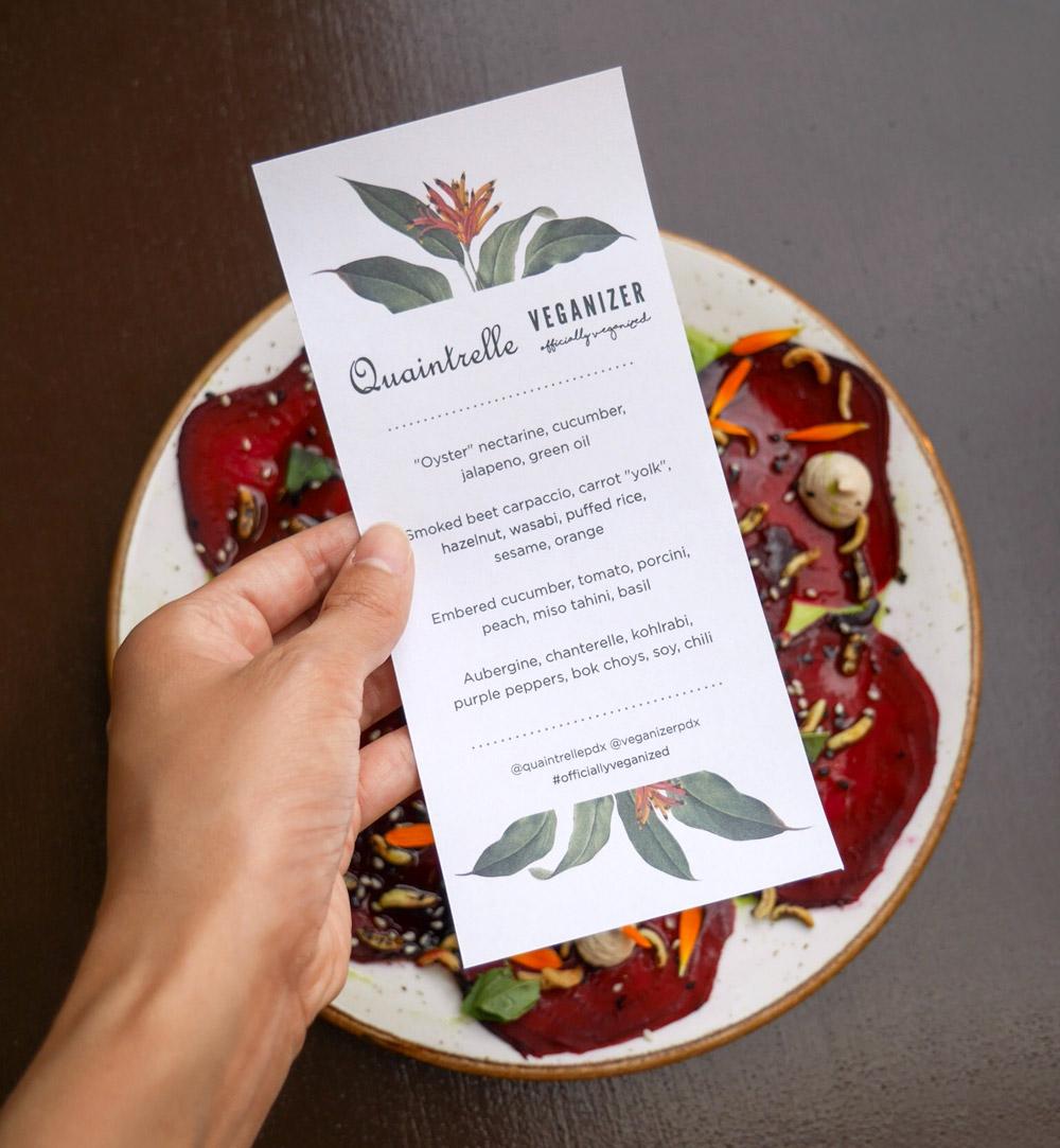Quaintrelle, Veganizer Summer Tasting Menu