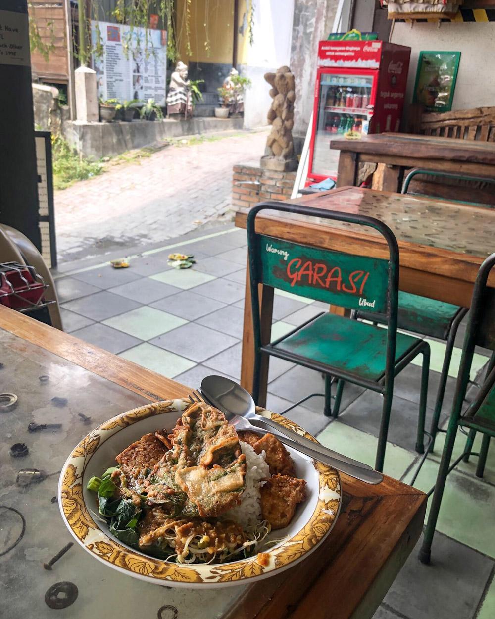 Warung Garasi Nasi Campur, Ubud, Bali