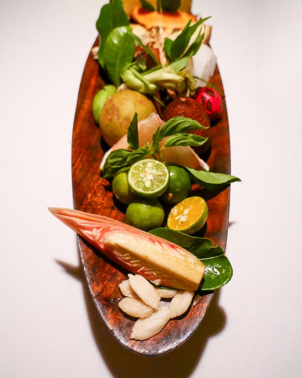 Indonesian Ingredients, Vegan Tasting Menu at Mozaic, Bali