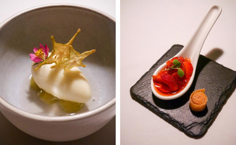 Starfruit, Strawberry Desserts, Vegan Tasting Menu at Mozaic, Bali
