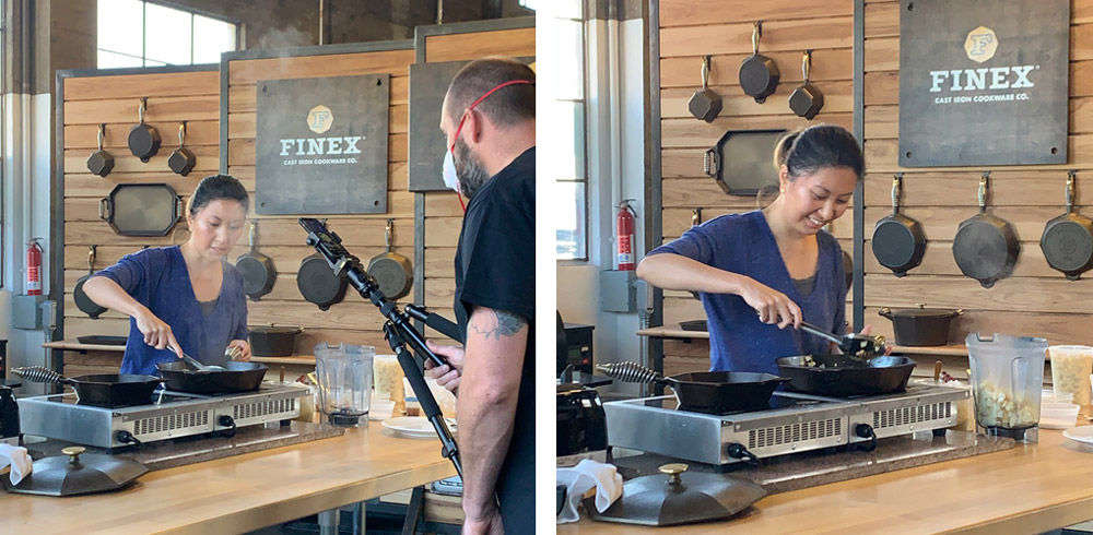 Finex Kitchen Cooking Demo, Portland, Oregon