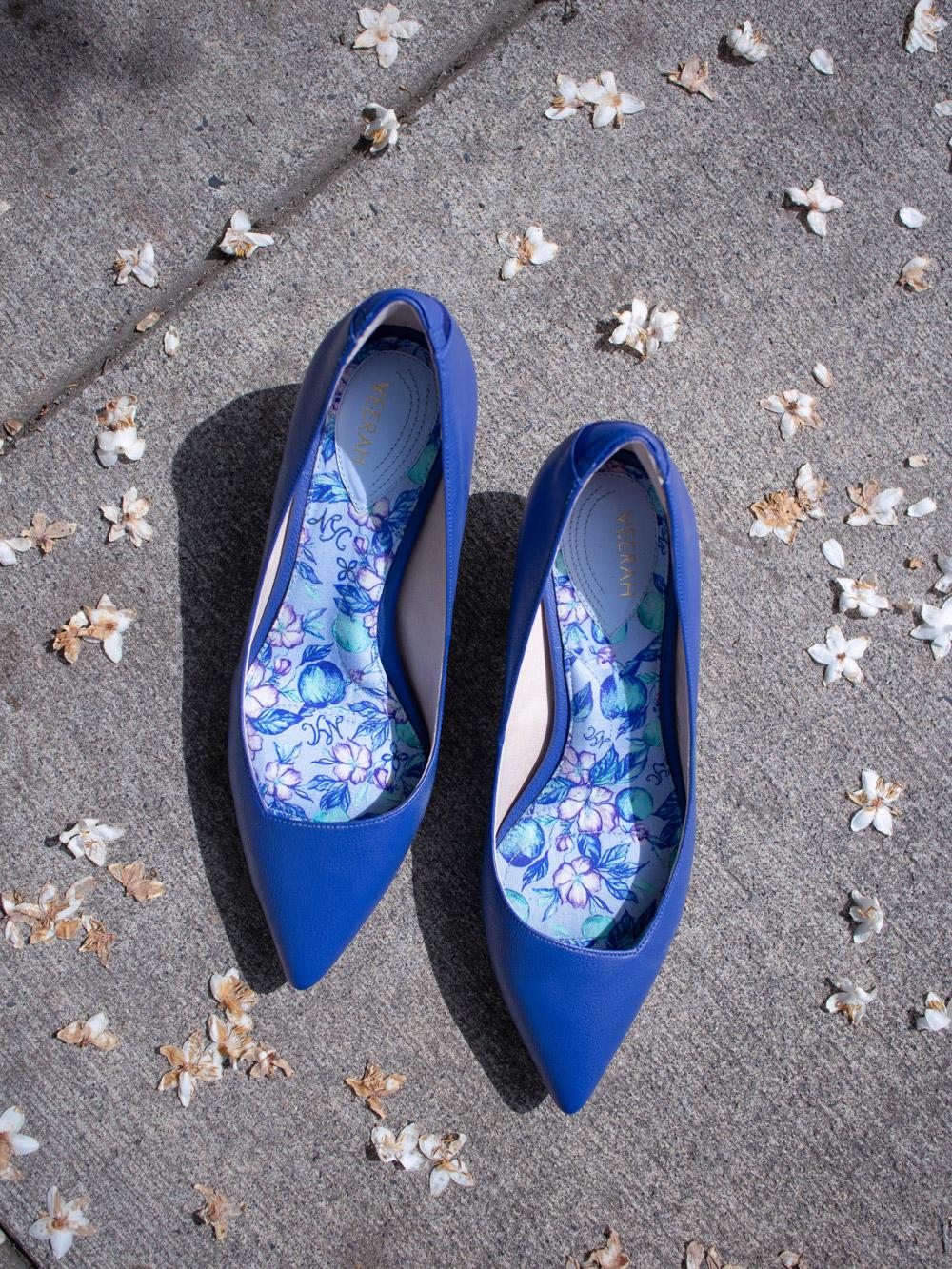 Veerah Designer Vegan Shoes Maya kitten heels