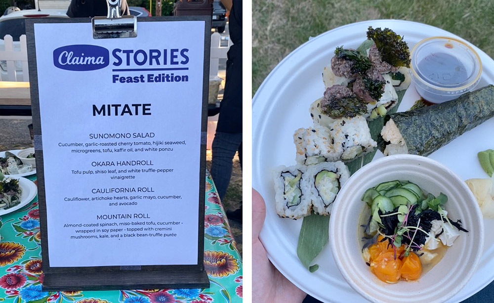 Feast Portland 2021 Claima Stories with Mitate Sushi